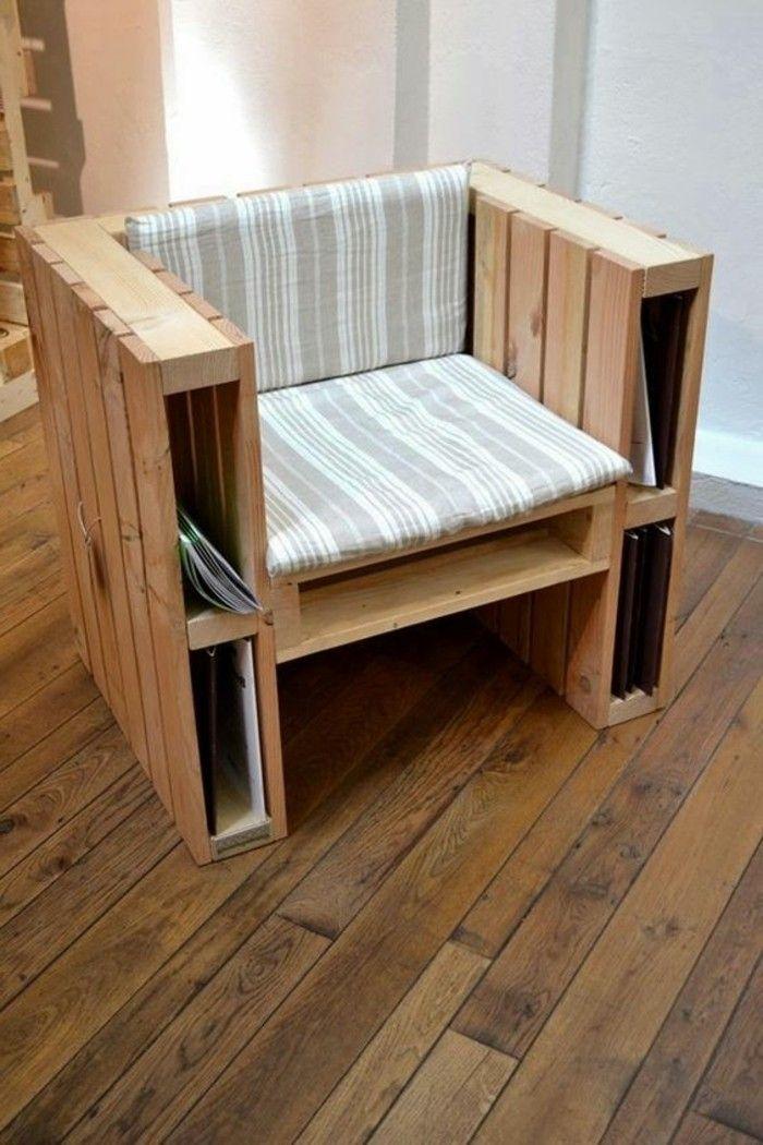 muebles de palets silln de palets natural cmodo