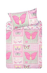BUTTERFLY STAMP DUVET COVER SET