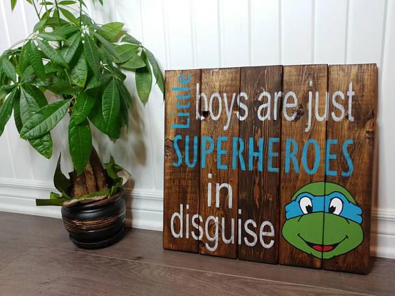 Check out this item in my Etsy shop https://www.etsy.com/ca/listing/480460694/superheroes-ninja-turtles-wood-sign