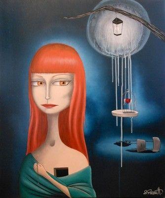Ne m'attends pas ce soir (2013) Acrylique sur toile, S.Renault