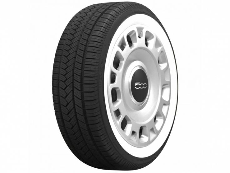 FIAT 500 White Wall Tire - American Classic by Coker 185/55R15 - (1 Tire)