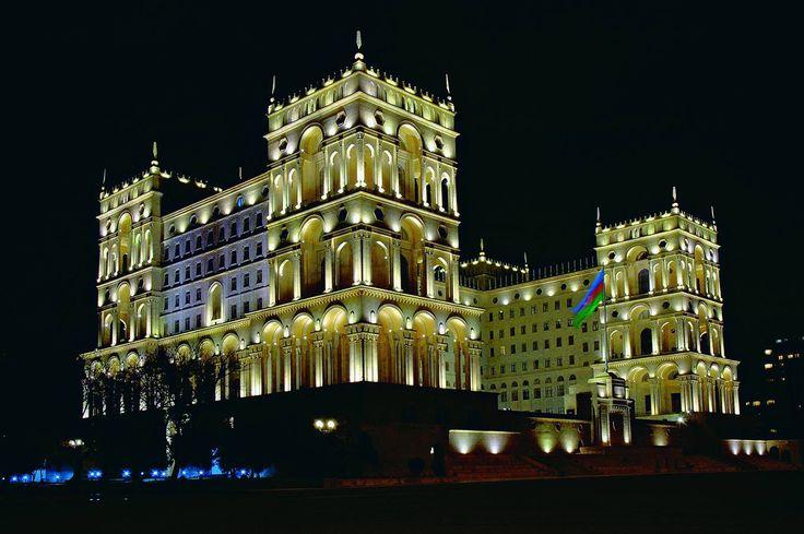 Hokumət Evi 1936 1952 Memarlar L Rudnev V Munts Landmarks Motherland Azerbaijan