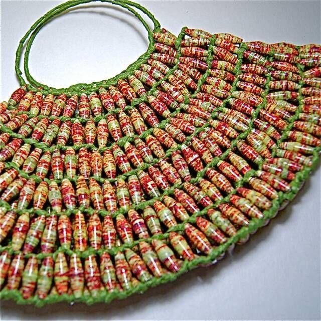 Paper bead bag