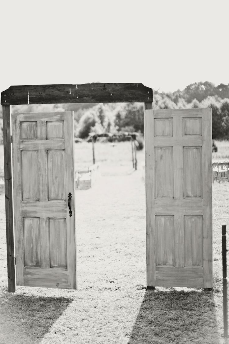 Depending on the setting, I like the idea of outdoor wedding doors.