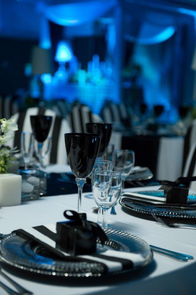 Liaan & Teresa's wedding - table settings