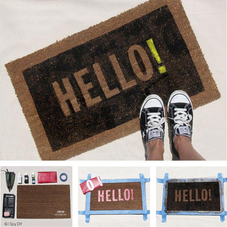 17 meilleures images propos de paillassons diy idees a faire soi m me sur pinterest tutoriel Personnaliser son tapis