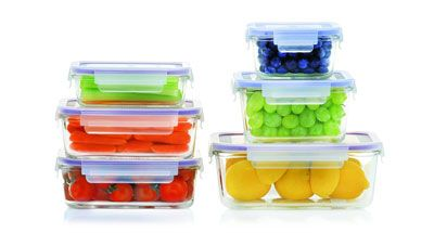 2. Popit 6-Piece Set Food Storage Container