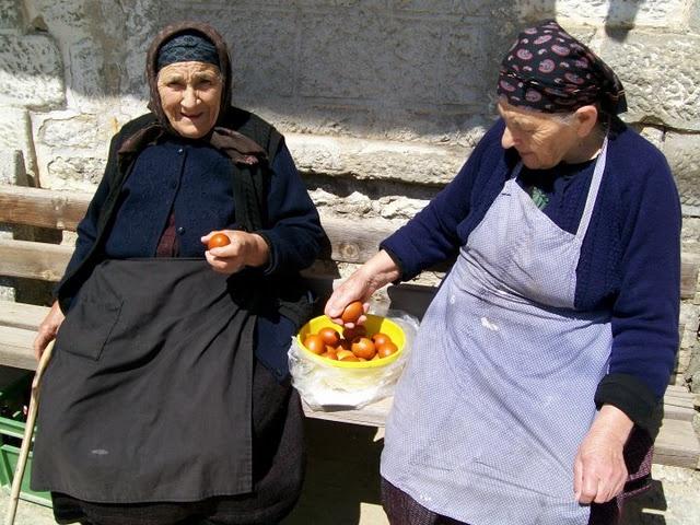 old peole living at a Greek village