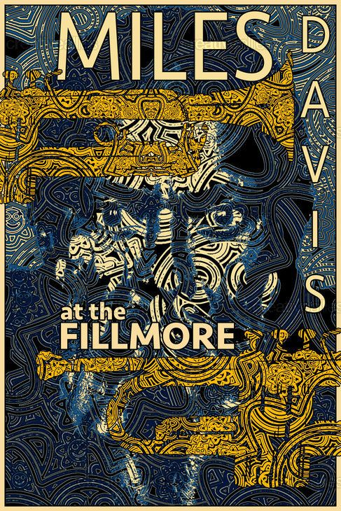 Miles At The Fillmore Poster by Oliv' on CreativeAllies.com