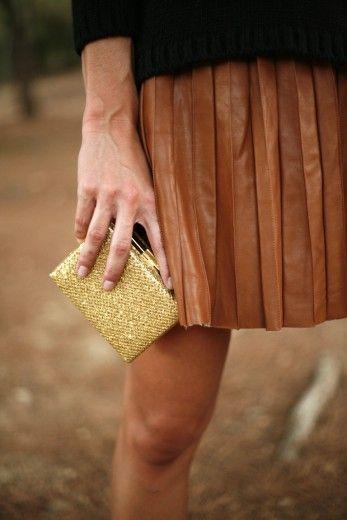 Bolso clutch dorado