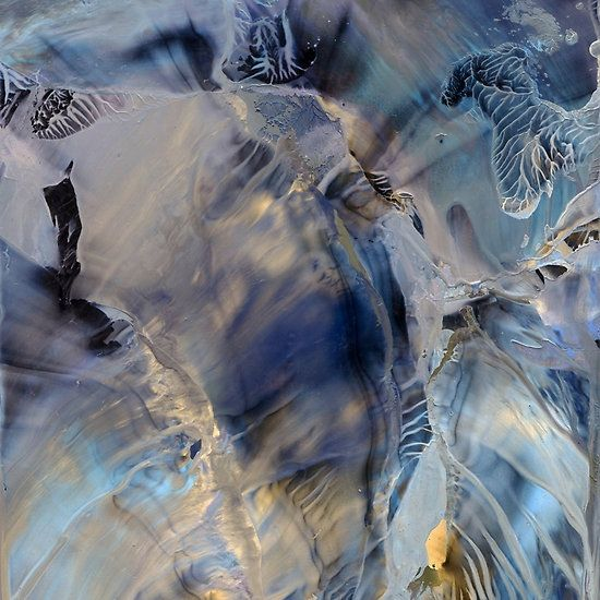 SHIMMERING SPIRIT OF ARCTIC HEAVEN  >< Encaustic painting >< High quality cards, t-shirts, phone cases, pillows & more are available from RedBubble.