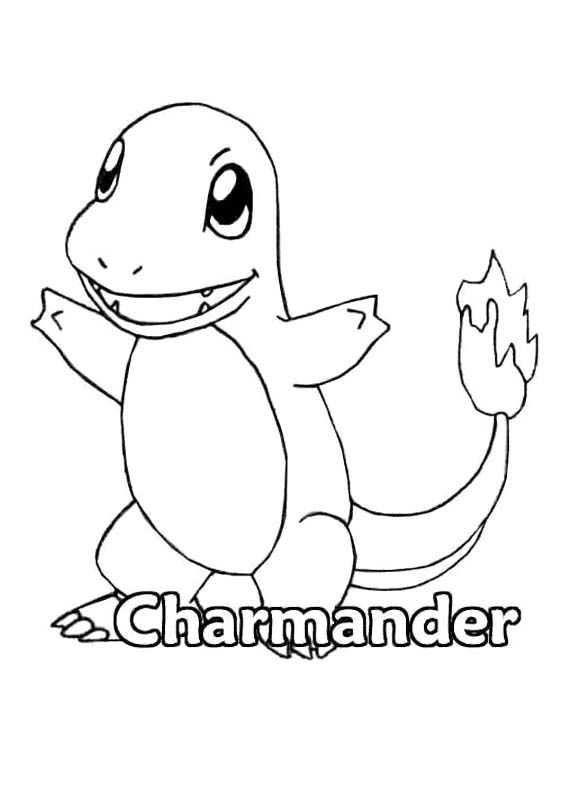 Pokemon Charmander Coloring Page | Pokemon coloring pages ...