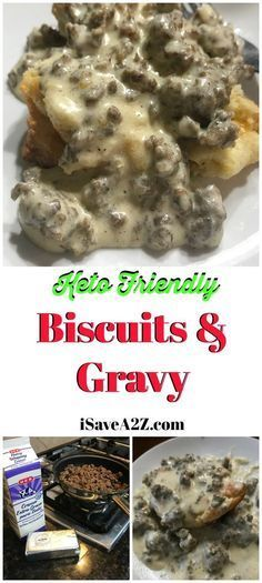 This is the BEST Keto Sausage, Biscuits and Gravy Recipe I've ever tried! via @isavea2z
