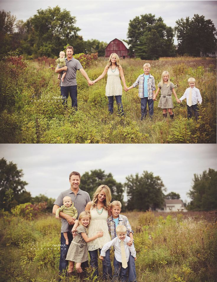 I enjoy the fact that these photos are not perfectly posed or symmetrical. As a photographer, when do you really get the perfect shot, especially with children, where everyone is hold still and standing in the perfect spot?! :)