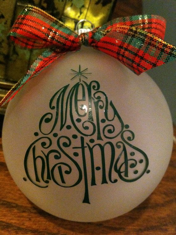 Christmas+Ornament+with+Ribbon+by+BloomAndDream+on+Etsy,+$8.00