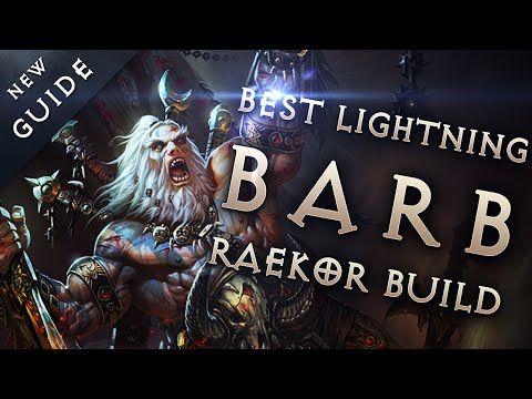 Best Barbarian Build & Gear: Lightning Raekor Barb - Diablo 3 Reaper of Souls Guide - YouTube