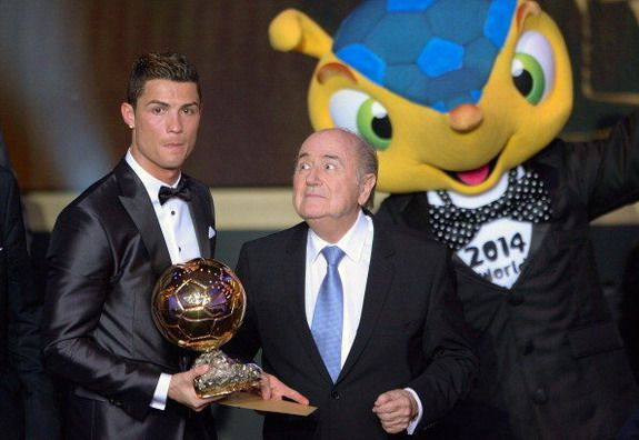 Caption This: Sepp Blatter thinks of doing bad things to Cristiano Ronaldo