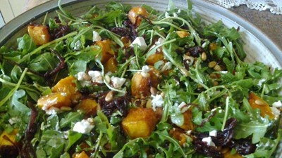 """Pumpkin, Feta and Caramelised Onion Salad  ... perfect for our """"Pumpkinfest!"""""""