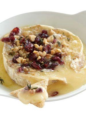 Warm Cranberry-Walnut Brie