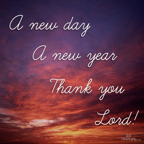 Lord Jesus,thank You For A New Year..Let It Be ONLY For