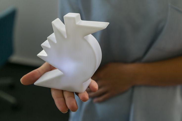 Mini design lamp Here by Slide Design   miniaturowa lampka Here