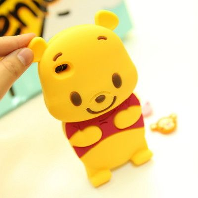 3D Cute Disney Winnie The Pooh Bear Soft Silicone Case Cover for I Phone 4 4S 4G   eBay