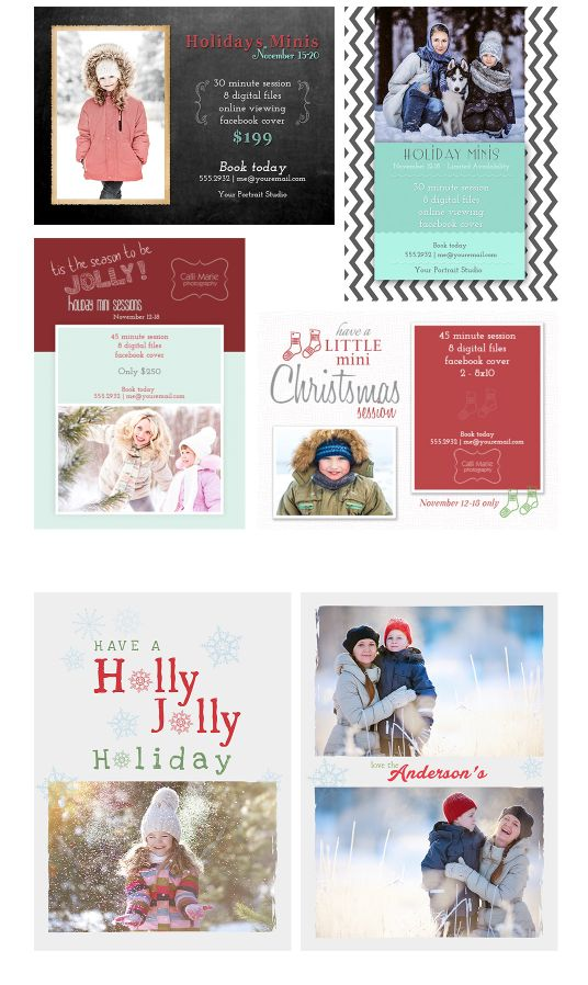 FREE Holiday Card Templates Cards are compatible with Photoshop CS5 – CC