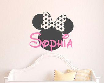 Cute M dchen Namen Wall Decal Minnie Mouse Wandtattoo von FabWallDecals
