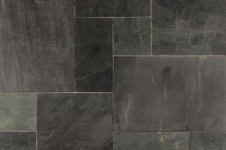 @BuildDirect: Slate Tile Slate Tiles   Versailles Pattern   Indian Black...entry/ powder room #finditkeepit