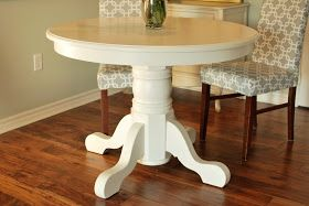 a place of gratitude: Painted Pedestal Table
