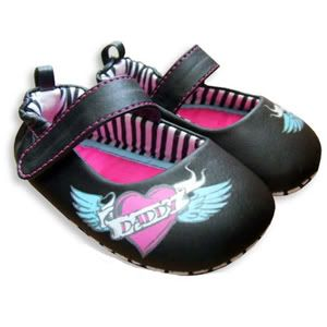 rocker shoes for babie | We love the cool Mom & Dad Heart Black Mary Janes , which are way ...