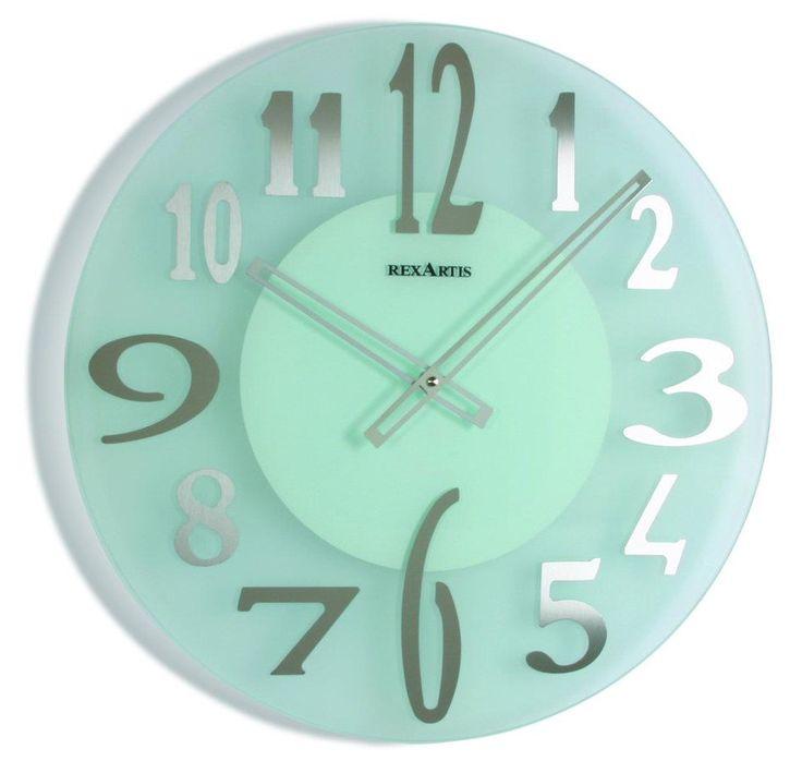 #Orologio da #parete di #design. In vetro. Creazione artigianale. www.vuva.it