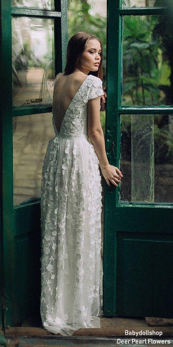 49735c18178 Vintage Boho Lace Wedding Dress FW16