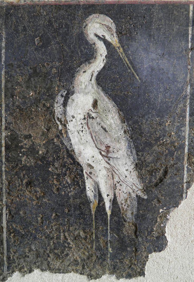 Roman fresco depicting a stilt, from the peristyle (peristylum) of a house in Vienna, 1st century AD, Musée gallo-romain de Saint Romain en Gal | da Following Hadrian