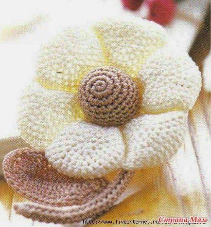 Una flor muy especial tejida con ganchillo