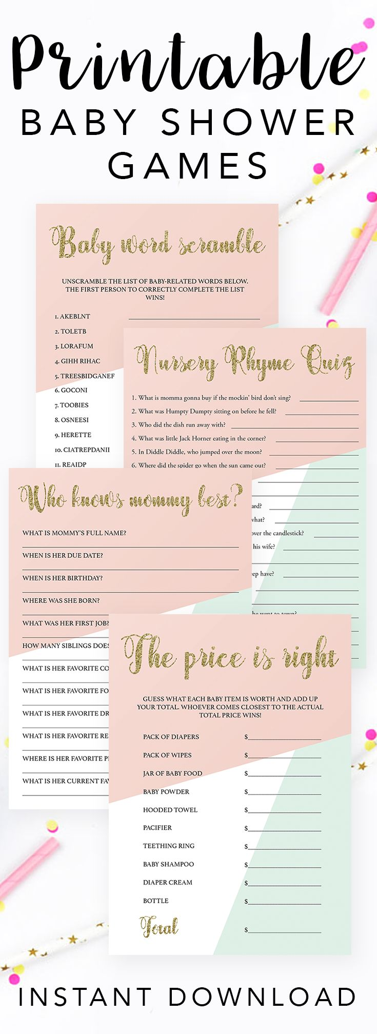 Baby Shower Games To Play Choice Image Handycraft Decoration Ideas The 25  Best Easy Baby Shower