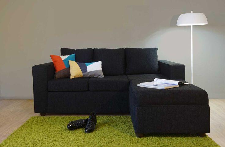 Sofá modular 3 cuerpos con pouf. http://livingstore.cl/producto/sofa-viena-3-cuerpos-pouf/