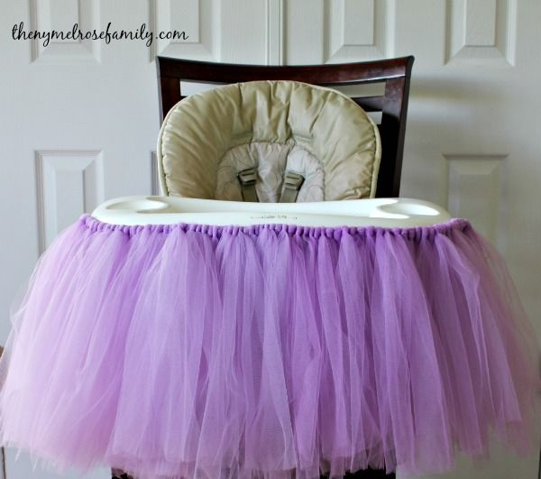No Sew Highchair Tutu | The NY Melrose Family - Part 2