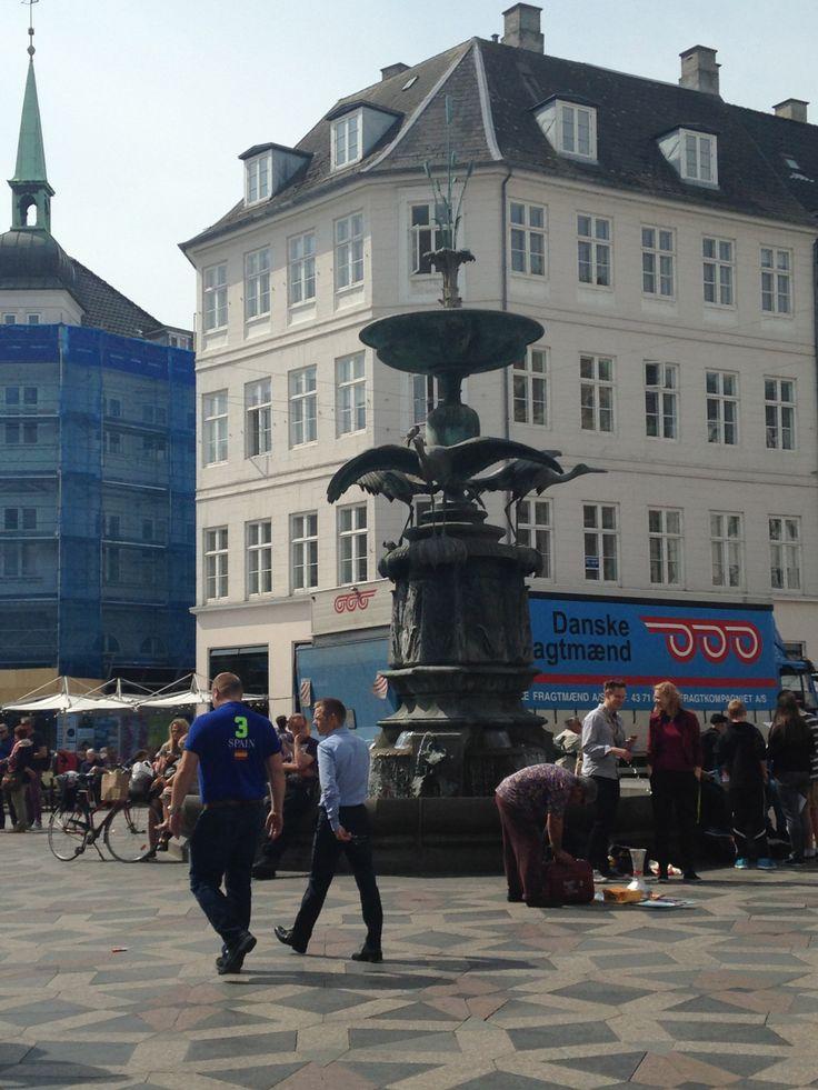 Grand plaza in the sun