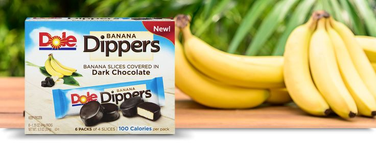 Frozen banana slices, covered in dark chocolate.  These I have to try!  AND they do them with almonds too!