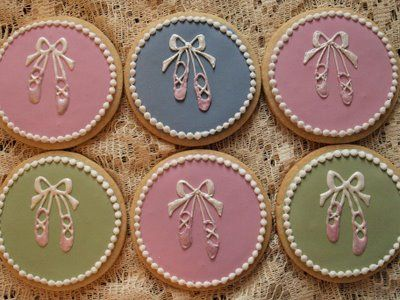 ballet cookies-recital bake sale idea