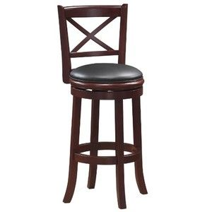 Boraam 49629 Georgia Swivel Stool, 29-Inch, Cherry