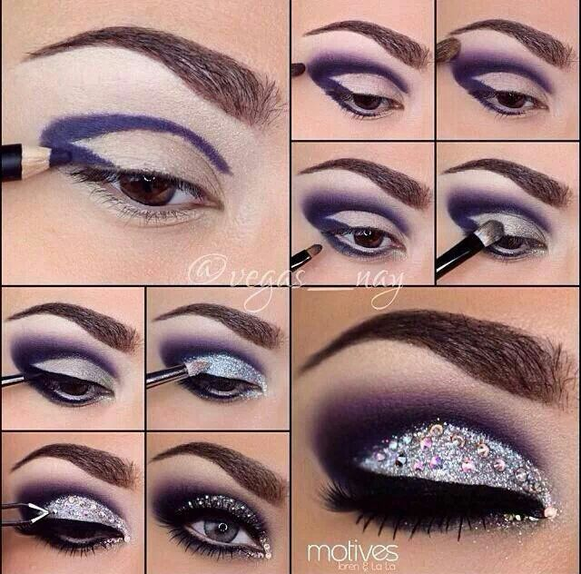 Pictorial by @vegas__nay..okay wow this eye make up I love!! #purple #sparkle #smokey