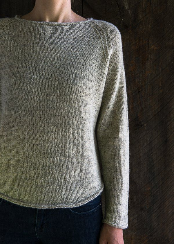 Lightweight Raglan Pullover Free Knitting Pattern