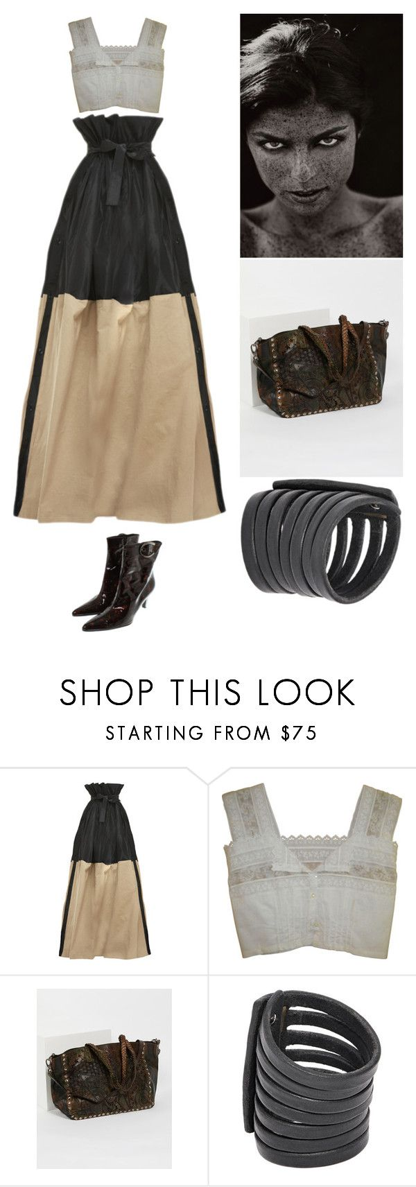 """""""Love every freckle #20"""" by amory-eyre ❤ liked on Polyvore featuring Tome, Free People, Rick Owens and Stuart Weitzman"""