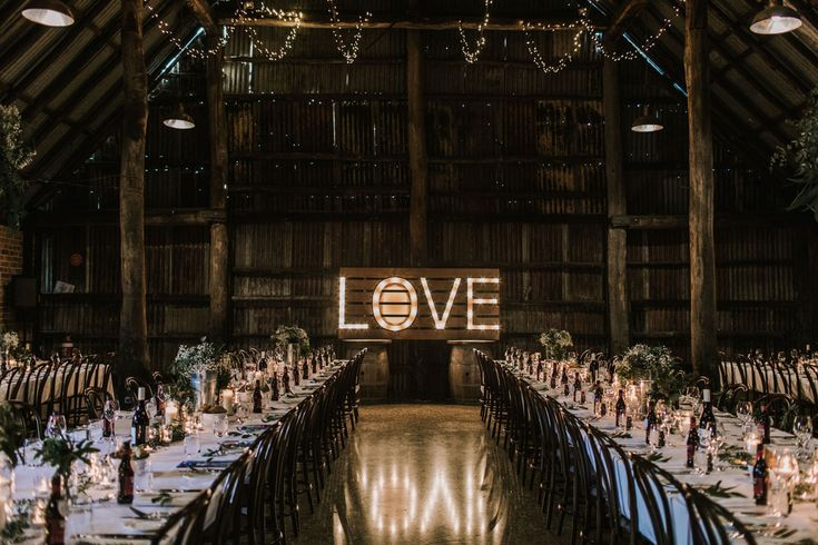 Brown Brothers Milawa Wedding LOVE sign (for hire) Barn