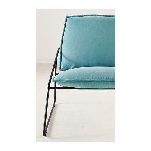 VILLSTAD Easy chair - Samsta turquoise - IKEA