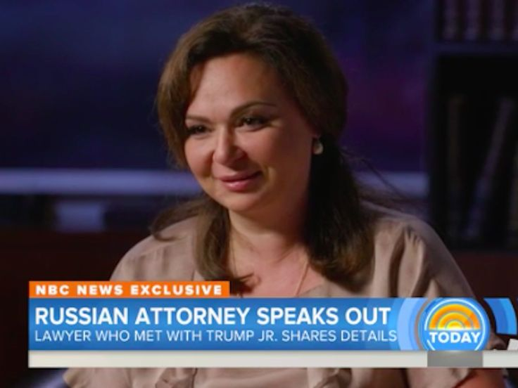 "'They wanted it so badly': The Russian lawyer who met with Trump Jr. denies having information on Hillary Clinton - The Russian lawyer who met with Donald Trump Jr. during the 2016 US presidential campaign has denied any connections to the Russian government and said Trump's inner circle was ""longing"" for info on the Democratic National Committee.  ""It is quite possible that maybe they were longing for such an information,"" Natalia Veselnitskaya told NBC News in an interview aired on the…"