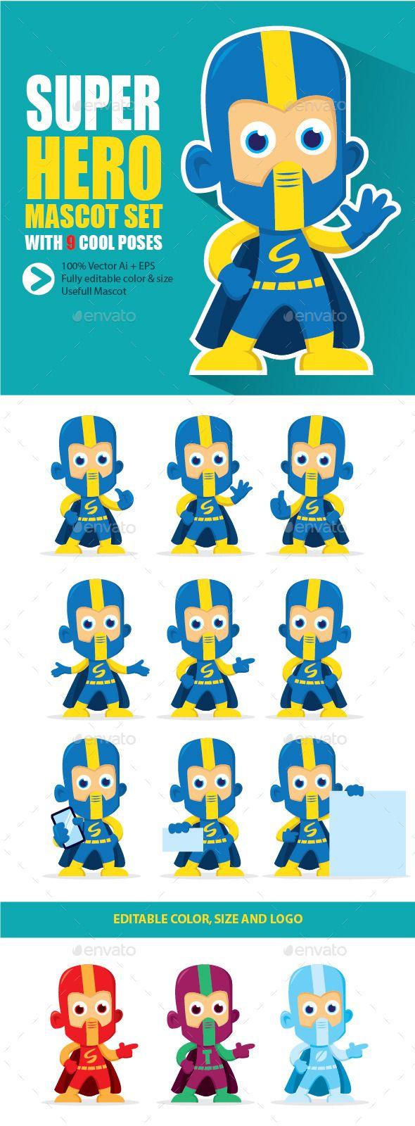 Super Hero Mascot Character