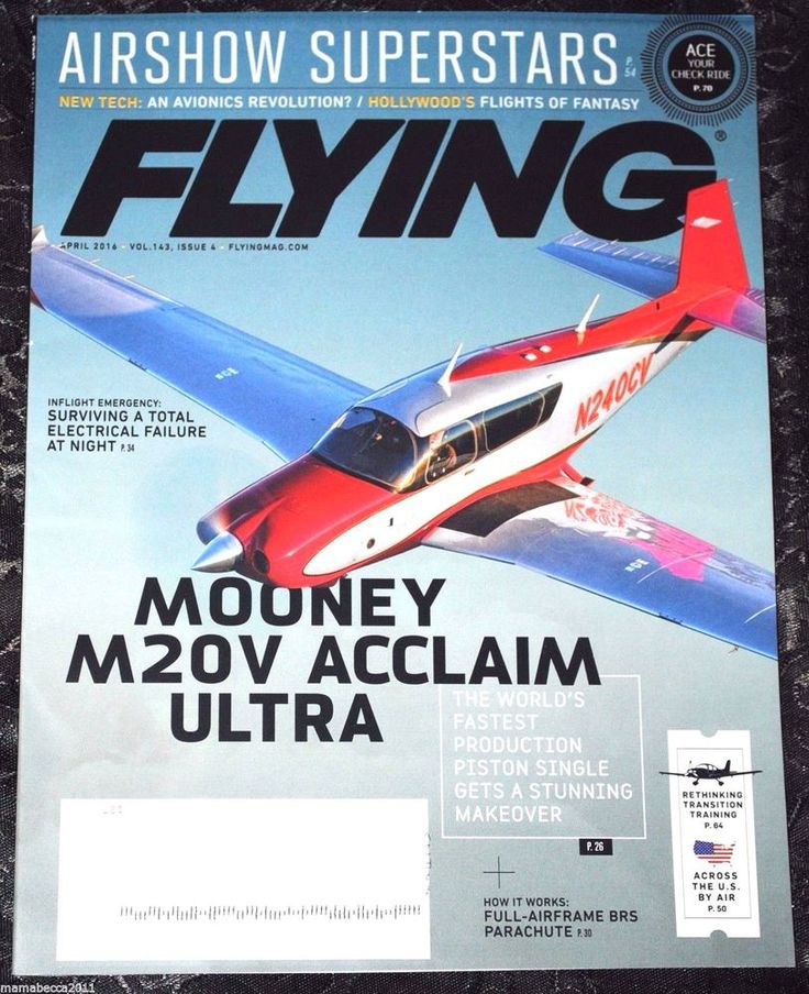 Flying Magazine  April 2016 + Plane & Pilot Magazine April 2016  (2 Magazines)